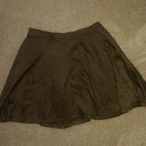 Suede flowy skirt